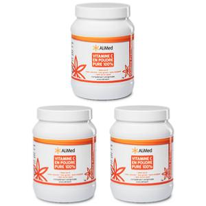 vitamine c en poudre pure 100 qualit sup rieure pack 3 pots x 1 kg. Black Bedroom Furniture Sets. Home Design Ideas